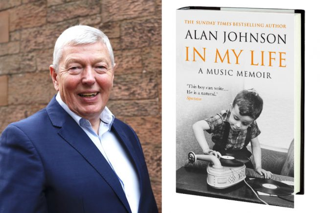 Photo of Alan Johnson and the cover of his book