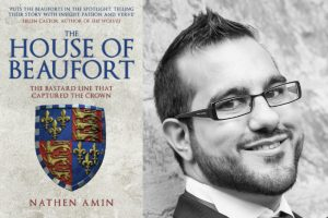 A photo of Nathan Amin and the cover of his book