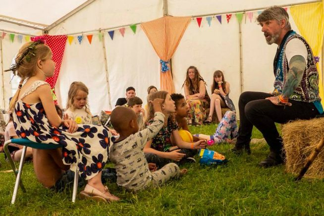An image of Shane the Storyteller at Roots Gathering