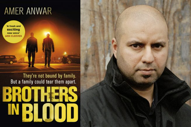An image of author Amer Anwar and the cover of his book