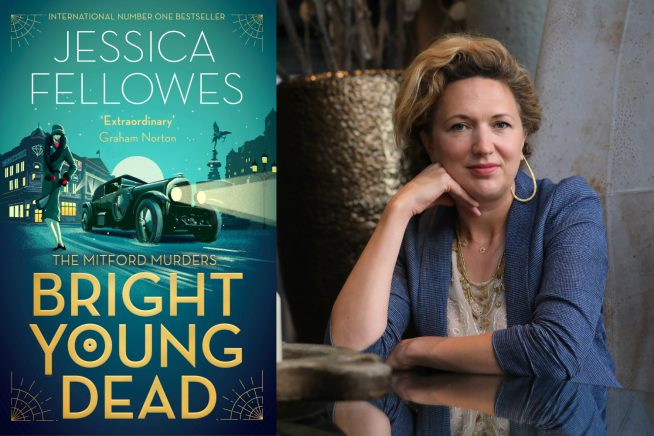 A photo of Jessica Fellowes and her book, Bright Young Dead