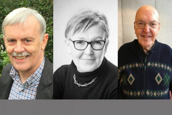 Photos of Martin Edwards, Geraldine Perriam & Barry Pike