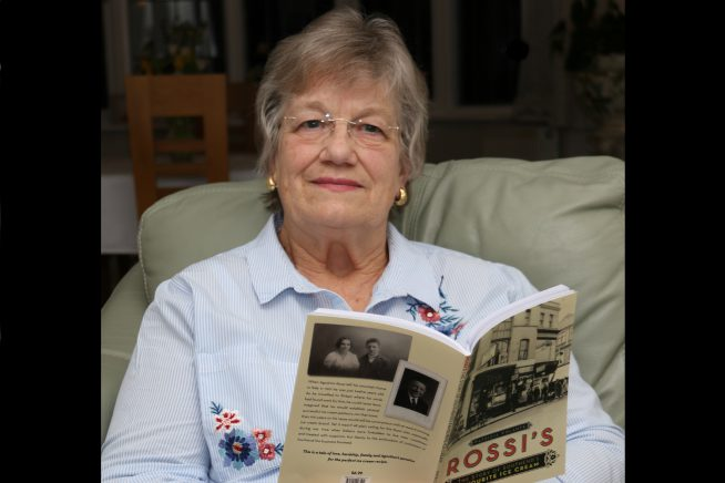 Image of author Patricia Volante reading her new book