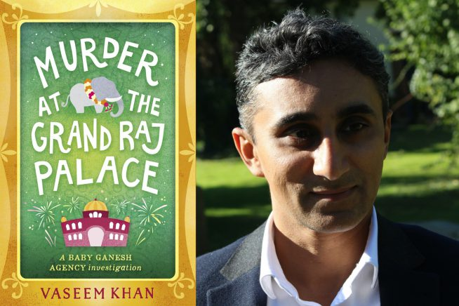 A photo of author Vaseem Khan and his new novel