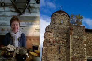 An image of Josie Watson and Colchester Castle