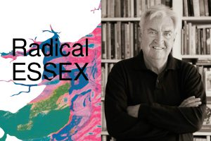 An image of Ken Worpole and the cover of the Radical Essex anthology