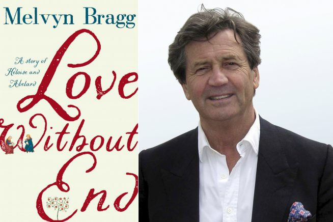 Image of Melvyn Bragg and the cover of his new novel