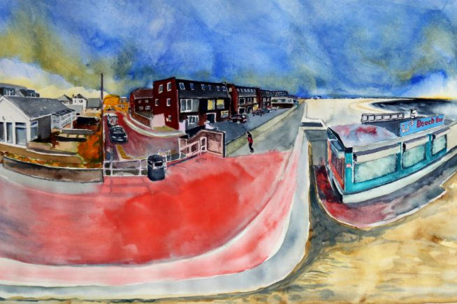 Artwork detail from one of Close and Remote's 360 Watercolour scene