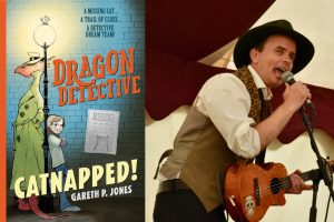 Gareth P Jones and Dragon Detective 3x2
